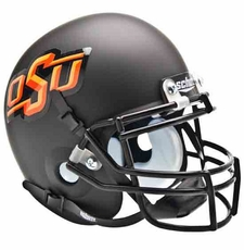 Oklahoma State Cowboys Black Schutt Authentic Full Size Helmet