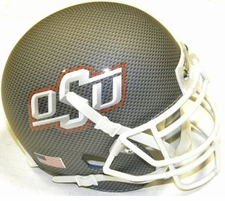Oklahoma State Cowboys Carbon Fiber Gray Schutt XP Authentic Mini Helmet