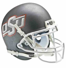 Oklahoma State Cowboys Carbon Fiber Schutt Authentic Mini Helmet