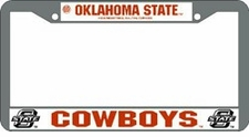 Oklahoma State Cowboys Chrome License Plate Frame