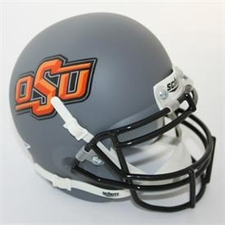 Oklahoma State Cowboys Gray Schutt Authentic Mini Helmet