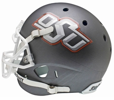 Oklahoma State Cowboys Gray w Gray OSU Schutt XP Authentic Helmet