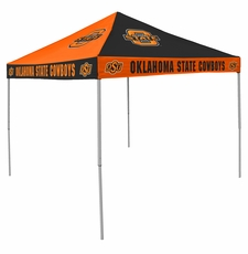 Oklahoma State Cowboys Orange / Black Checkerboard Logo Canopy Tailgate Tent