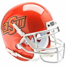 Oklahoma State Cowboys Orange Schutt Authentic Mini Helmet