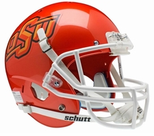 Oklahoma State Cowboys Orange Schutt XP Full Size Replica Helmet
