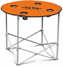 Oklahoma State Cowboys Round Tailgate Table