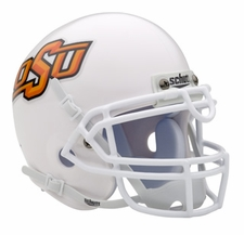 Oklahoma State Cowboys White Schutt Authentic Mini Helmet