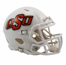 Oklahoma State Cowboys White Riddell Speed Mini Helmet