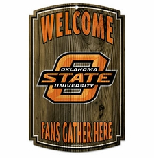 Oklahoma State Cowboys Wood Sign