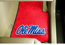 Ole Miss (Mississippi) Rebels 2-Piece Carpeted Car Mats Front Set