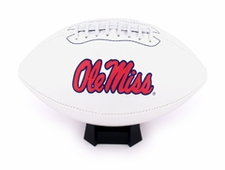 Ole Miss (Mississippi) Rebels Fotoball Signature Embroidered Full Size Football