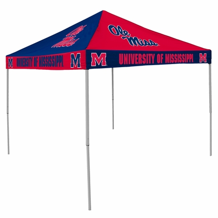 Ole Miss (Mississippi) Rebels Navy / Red Checkerboard Logo Canopy Tailgate Tent