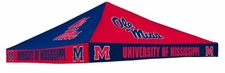 Ole Miss (Mississippi) Rebels Navy / Red Checkerboard Logo Tent Replacement Canopy