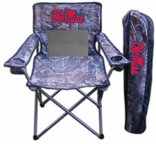 Ole Miss (Mississippi) Rebels Realtree Camo Mesh Chair