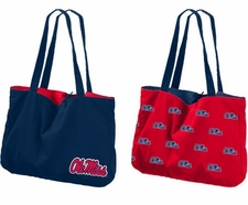 Ole Miss (Mississippi) Rebels Reversible Tote Bag