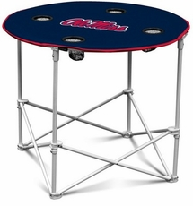 Ole Miss (Mississippi) Rebels Round Tailgate Table