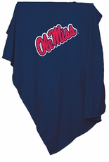 Ole Miss (Mississippi) Rebels Sweatshirt Blanket (Blue)