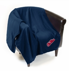 Ole Miss (Mississippi) Rebels Sweatshirt Throw Blanket