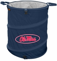 Ole Miss (Mississippi) Rebels Tailgate Trash Can / Cooler / Laundry Hamper