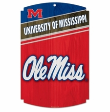 Ole Miss (Mississippi) Rebels Wood Sign
