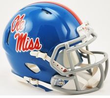 Ole Miss Rebels Powder Blue Mini Speed Helmet