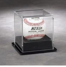 One Ball Display Case with Black Vacuumed Formed Base