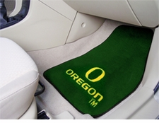 Oregon Ducks 2-Piece Carpeted Car Mats Front Set