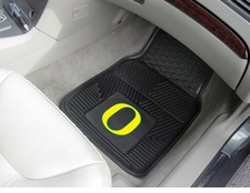 Oregon Ducks 2-Piece Heavy Duty Vinyl Car Mat Set