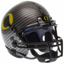 Oregon Ducks Carbon Fiber Schutt Authentic Mini Helmet