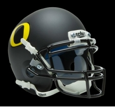 Oregon Ducks Black Schutt Authentic Mini Helmet