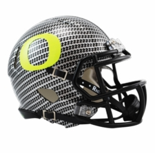 Oregon Ducks Carbon Fiber HydroFX Riddell Speed Mini Helmet