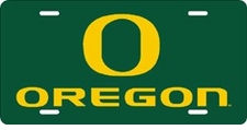 Oregon Ducks Green Laser Cut License Plate