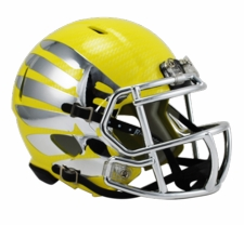 Oregon Ducks Liquid Lightning Yellow Chrome Riddell Speed Mini Helmet