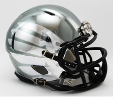 Oregon Ducks Liquid Metal Riddell Speed Mini Helmet