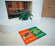 Oregon Ducks - Oregon State Beavers House Divided Floor Mat