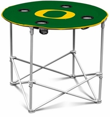 Oregon Ducks Round Tailgate Table