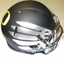 Oregon Ducks Titanium Black Eclipse Riddell Speed Mini Helmet