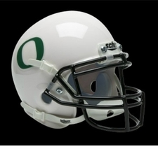 Oregon Ducks White Schutt Authentic Mini Helmet