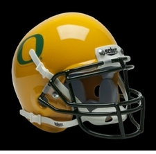 Oregon Ducks Yellow Schutt Authentic Mini Helmet