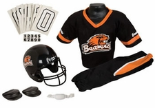Oregon State Beavers Deluxe Youth / Kids Football Helmet Uniform Set
