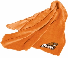 Oregon State Beavers Fleece Throw (Orange)