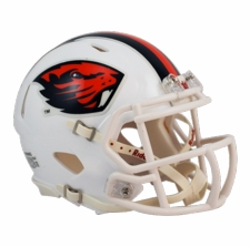 Oregon State Beavers White Riddell Speed Mini Helmet