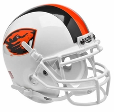 Oregon State Beavers White Schutt Authentic Mini Helmet