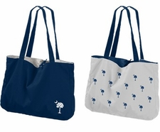 Palmetto (South Carolina) Blue Reversible Tote Bag
