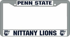 Penn State Nittany Lions Chrome License Plate Frame