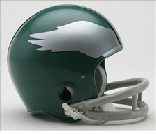 Philadelphia Eagles 1959-69 2-Bar Throwback Replica Mini Helmet