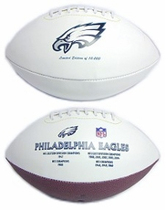 Philadelphia Eagles Embroidered Autograph Signature Series Football