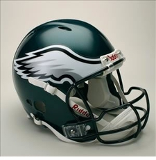 Philadelphia Eagles Full Size Riddell Revolution NFL Helmet