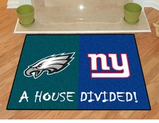 Philadelphia Eagles -  New York Giants House Divided Floor Mat