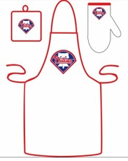Philadelphia Phillies Cooking / Grilling Apron Set